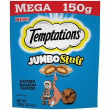 Temptations Jumbo Stuff Savory Salmon Flavor Cat Treats 5.29oz