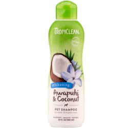 TropiClean Whitening Pet Shampoo with Awapuhi and Coconut 20oz