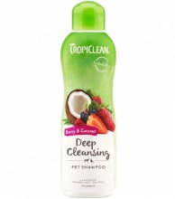 TropiClean Deep Cleansing Pet Shampoo with Berry and Coconut 20oz