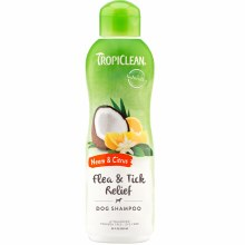 TropiClean Flea and Tick Relief Dog Shampoo with Neem and Citrus 20oz
