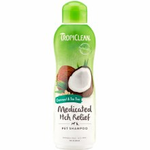 TropiClean Medicated Itch Relief Pet Shampoo with Oatmeal and Tea Tree 20oz