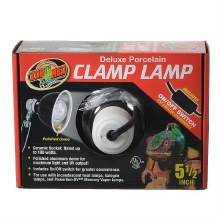 "Zoo Med Deluxe Porcelain Clamp Lamp Black 5.5"""