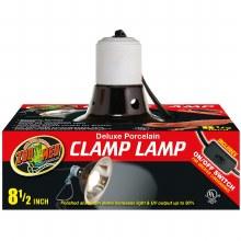 "Zoo Med Deluxe Porcelain Clamp Lamp Black 8.5"""