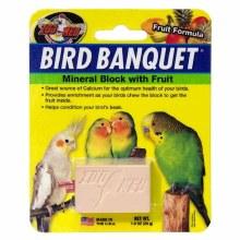 Zoo Med Bird Banquet Block Fruit Formula Small