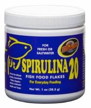 Zoo Med Spirulina 20 Fish Food Flakes 1oz