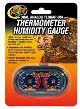 Zoo Med Dual Analog Terrarium Thermometer and Humidity Guage