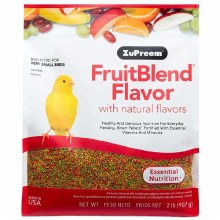 ZuPreem FruitBlend Flavor with Natural Flavors for Very Small Birds 2lb