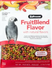 ZuPreem FruitBlend Flavor with Natural Flavors for Parrots and Conures 3.5lb