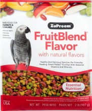 ZuPreem FruitBlend Flavor with Natural Flavors for Parrots and Conures 2lb