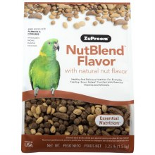 ZuPreem NutBlend Flavor with Natural Nut Flavors for Parrots and Conures 3.25lb