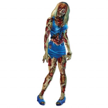 Zombie Girl Jointed Cutout