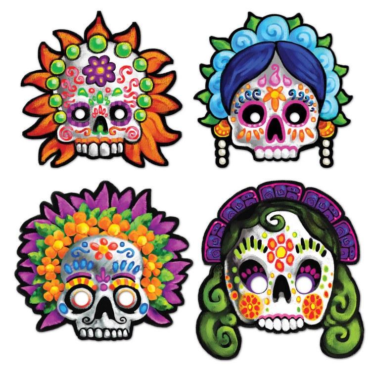 Masks Day Of Dead Asst