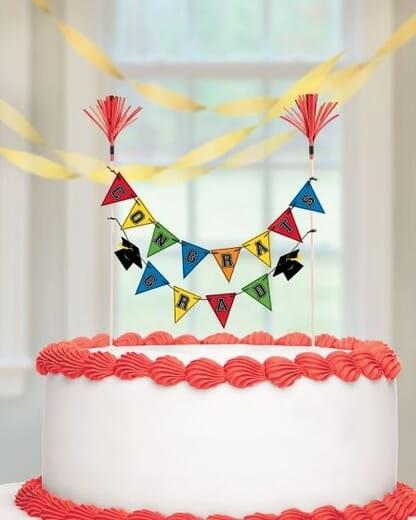 Grad Pick Banner Cake Decor