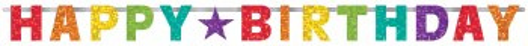 Bday Rainbow Banner 8ft