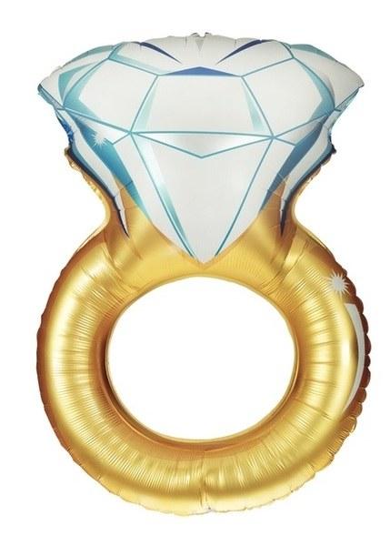 Blln 37in Foil OS Diamond Ring