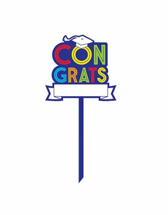 Grad Contrats Yard Sign Custom
