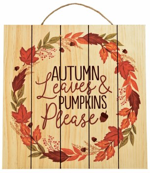 Autumn Leaves Sign Hang
