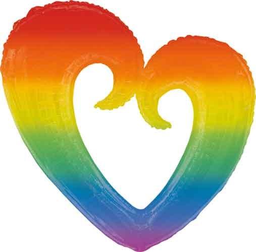 """Mylr 32"""" OpenHeart Rainbow"""