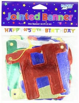 Banner Happy 50th Bday