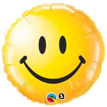 Mylar 18in Smiley Face