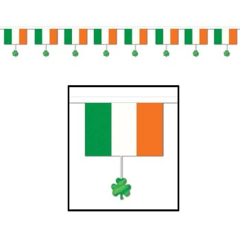 Irish Flags & Shamrocks Banner