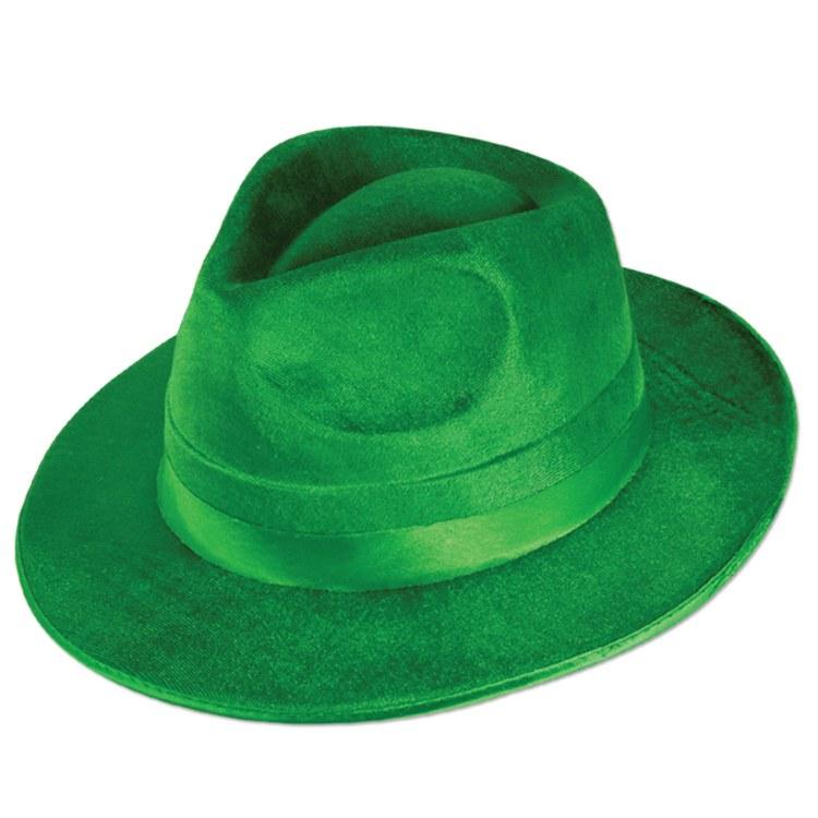 Hat Green Fedora VelFelt