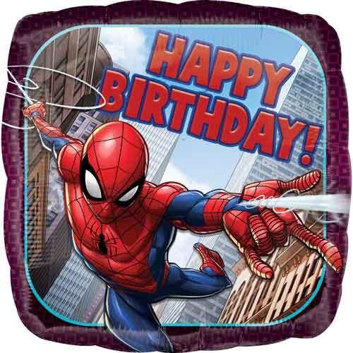"18"" Spiderman ~ Happy Birthday"