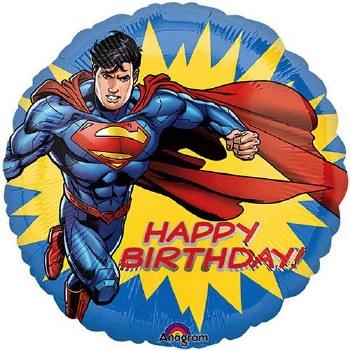 "Superman Happy Birthday ~ 17"""