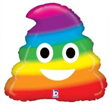 """20"""" Emoji Rainbow Poop"""