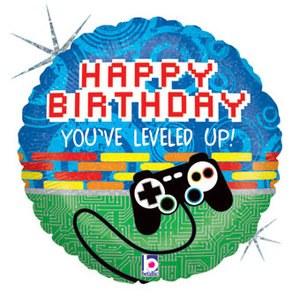 Gamer ~ 18in Happy Birthday