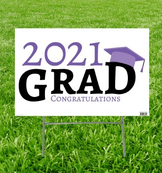 Grad Yard Sign 2021 Purple