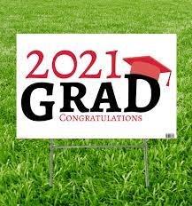 Grad Yard Sign 2021 Red