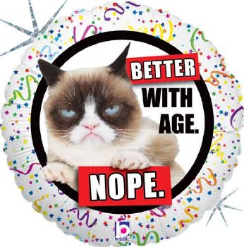 """18"""" Grumpy Cat ~ Better with Age"""