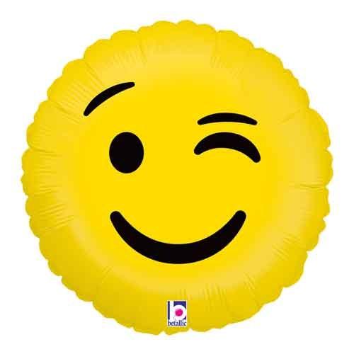 """Mylr 18"""" Wink Emoji"""