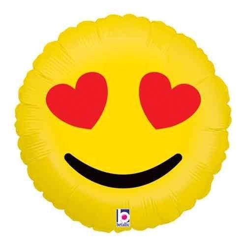 """Mylr 18"""" Emoji Heart Eyes"""