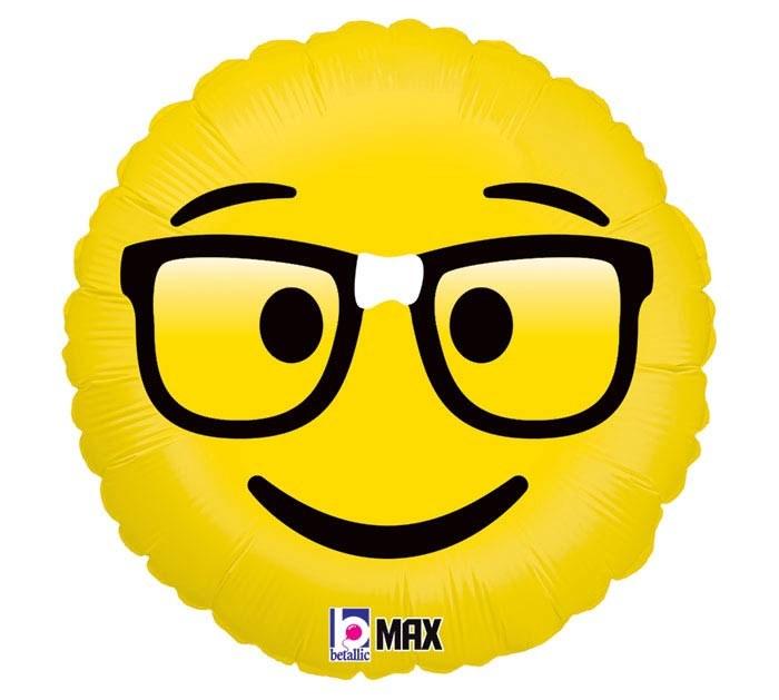18'' Emoji Nerd
