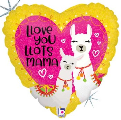 "Mylr 18"" Heart Llots Mama"