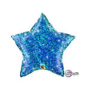 "Mylr 20"" Blue Holographic Star"