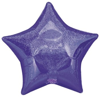 "Mylr 20"" Purp Holographic Star"