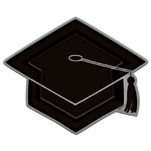 Grad Cap Shaped Plt 10.5in