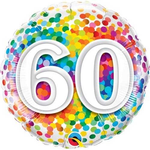 "18"" Rainbow Confetti ""60"""