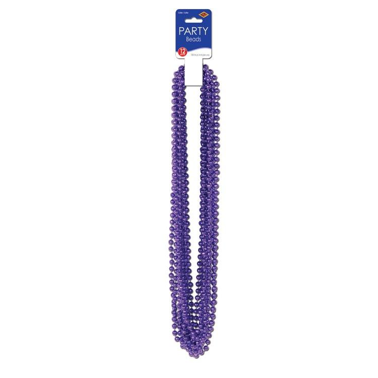 Beads Party Sm Round Purple