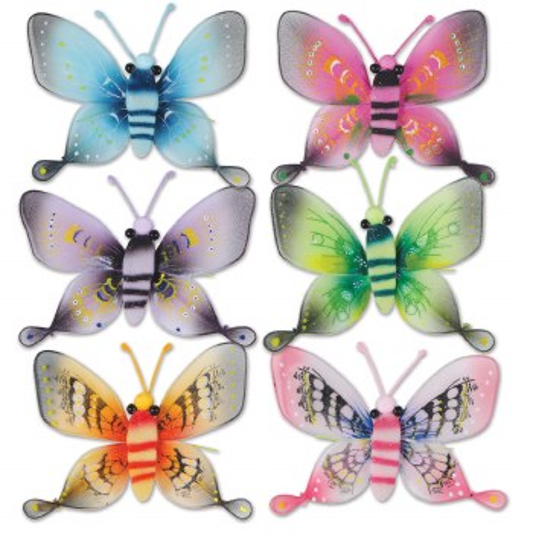 """Butterflies Nylon Glit 5"""" Asst"""