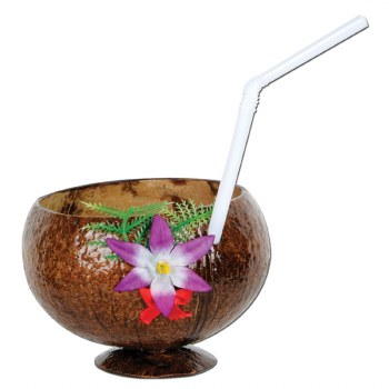 Cup Coconut w/Straw