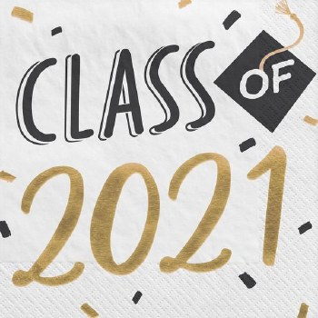 Class of 2021 Grad Lunch Napkins 16ct