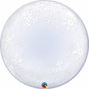 "Blln 24"" Bubble Snowflakes"