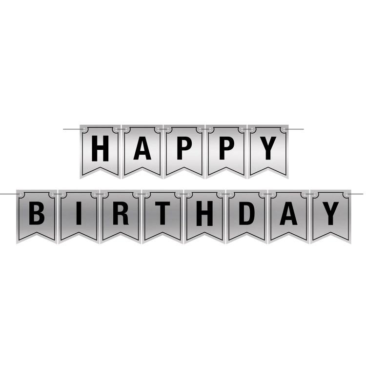 Banner Happy Birthday Foil Slv
