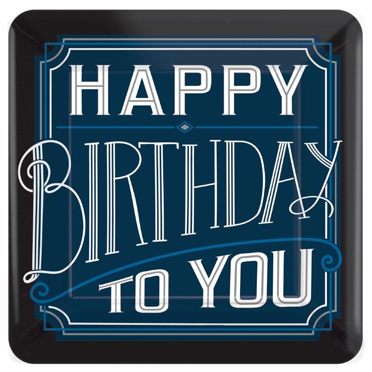Birthday Man 7in Sq Plt