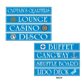 Cutouts Cruise Ship Sign