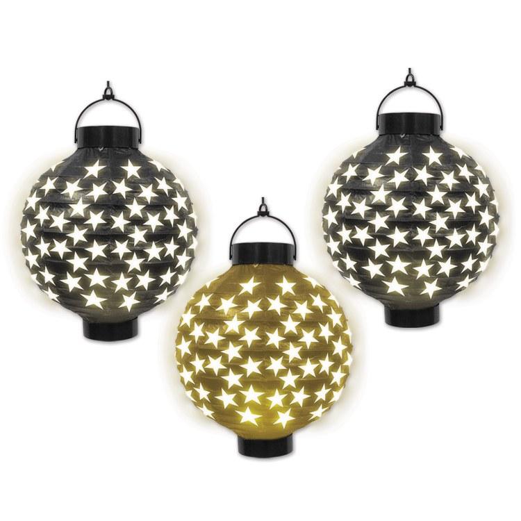 Lanterns Stars Light Up 3pk